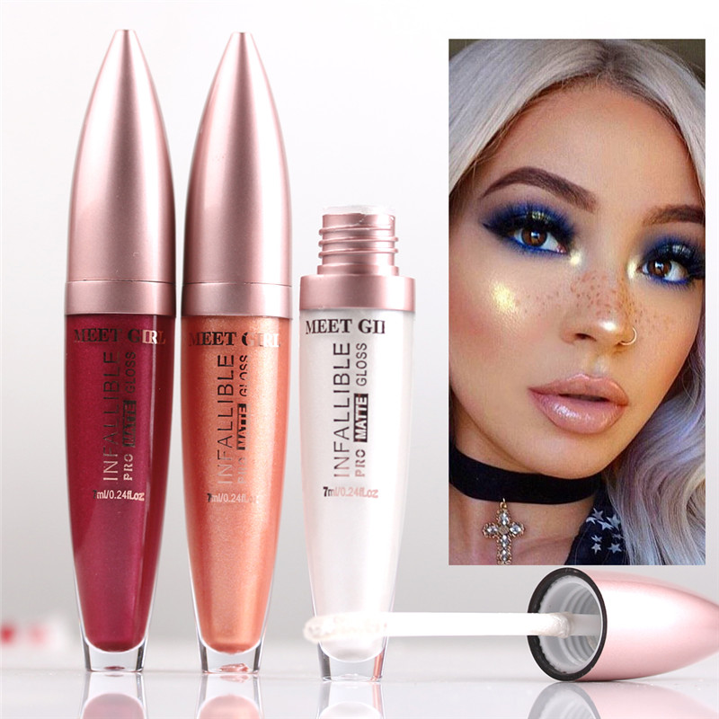 12 Colors Liquid Metallic Lip Gloss Sexy Lipstick Glitter Waterproof Long LastingCosmetics Shimmer Lips Tint Makeup Maquiagem