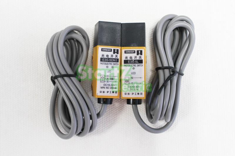 E3S-5DN1-5L NPN NO DC Photoelectric Sensor Switch Detection Distance 5m Correlation type no 5 pet xs s m l