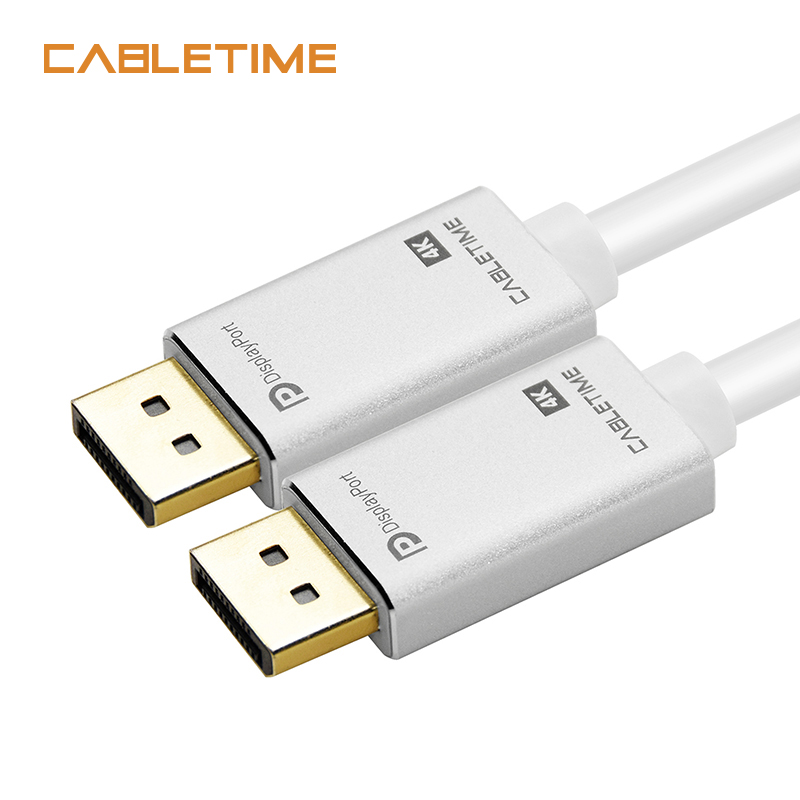 Cabletime DisplayPort Cable M/M PRE DP 4k 60hz DP 1.2 Cable 2M 3M DP Gold-plated Display port Cable for HDTV Projector PC N163 4k dp