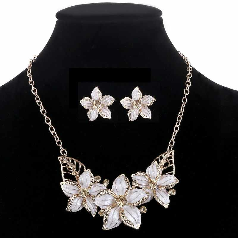 d442b3dc9dcd7 ZOSHI Fashion Zinc Alloy Austrian Crystal Enamel Flower Jewelry Sets ...