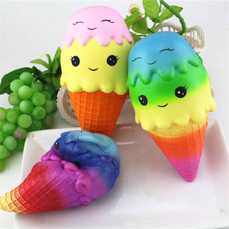 Squishy Jumbo Ice Cream Scented Gags Practical Joke Toys Squish Antistress Squishy Toys Stress Reliever 30S71225 drop shipping