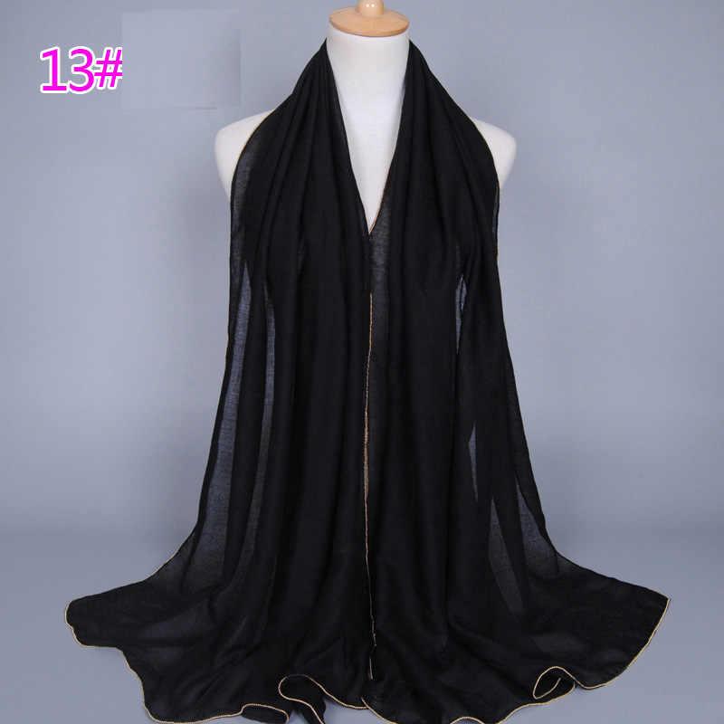 80*180cm muslim cotton hijab scarf islamic headscarf arab headwrap foulard femme musulman plain shawls