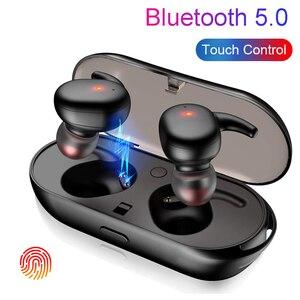 Image 1 - タッチ Bluetooth イヤホン TWS ワイヤレスヘッドフォンミニインナーイヤー Hd ステレオハンズフリーヘッドセットノイズキャンセルのため xiaomi iPhone