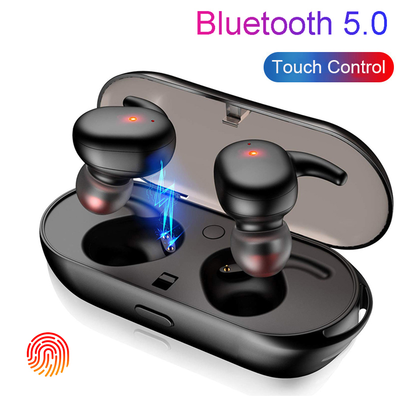 Fingerprint Touch Bluetooth Earphone TWS Wireless Earphones Ear pods Sport Earbuds HD Stereo Handfree Headset Noise Cancelling-in Bluetooth Earphones & Headphones from Consumer Electronics