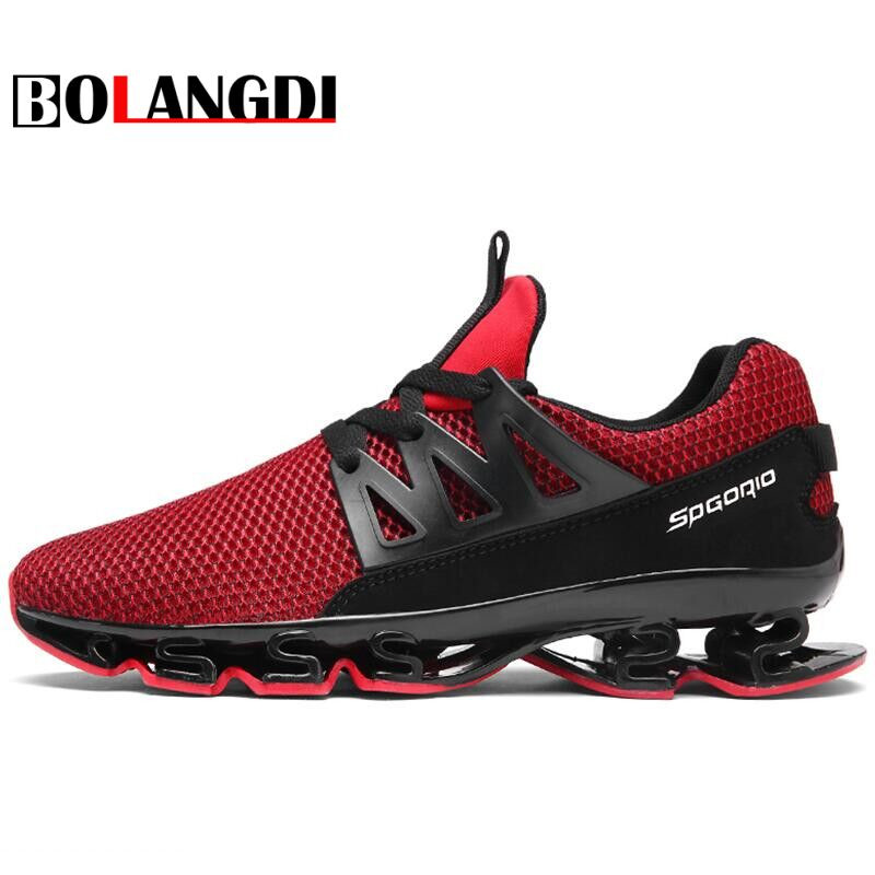 nouveau concept f0ab4 f811c US $42.5  Bolangdi New Men Running Shoes Breathable Male Mesh Outdoor  Athletic Shoes Sneakers Brand Men Trainers Zapatillas Deporte Mujer-in  Running ...