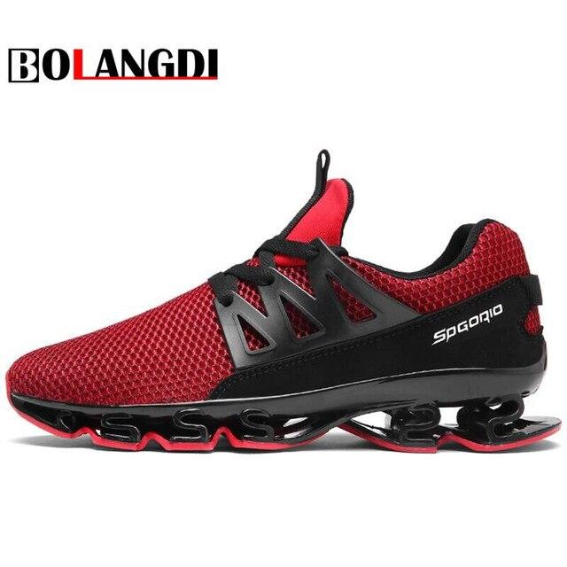 82a2d9f19c1ab Bolangdi nuevos zapatos corrientes respirables masculinos malla al aire  libre zapatos atléticos Zapatillas marca hombres Zapatillas