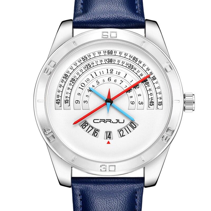 Fashion Men's Wrist Watches 3Bar Waterproof Leather Watchband  Top Brand Luxury Creative Quartz-watch Men's Leather Watches