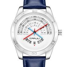 Zimowa wyprzedaż wyprzedaż męska zegarki 3Bar wodoodporna skórzana Watchband Top marka zegarek kwarcowy męskie skórzane zegarki