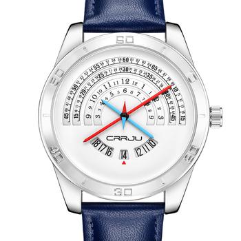 Zimowa wyprzedaż wyprzedaż męska zegarki 3Bar wodoodporna skórzana Watchband Top marka zegarek kwarcowy męskie skórzane zegarki tanie i dobre opinie CRRJU Moda casual Sprzączka QUARTZ STOP 24cm Hardlex 20mm ROUND Kwarcowe zegarki Papier 2140 Odporne na wodę Kompletny kalendarz
