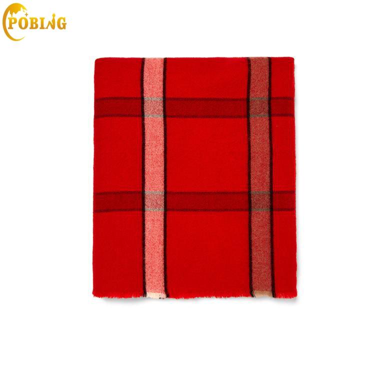 POBING New za Winter   Scarf   Women Tartan Plaid Cashmere   Scarves     Wraps   Basic Acrylic Wram Shawls Female Blanket   Scarf   Lady Poncho