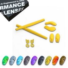 ToughAsNails Polarized Replacement Lenses & Yellow Ear Socks for Oakley Juliet Sunglasses - Multiple Options цена
