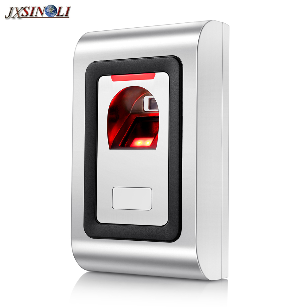 2018 New Style Anti-vandal Metal Fingerprint  & RFID Access Controller with WG26 Input & Output biometric fingerprint access controller tcp ip fingerprint door access control reader