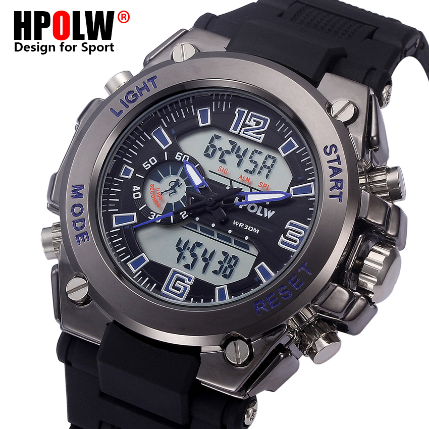 Mens Date Day LED Display Luxury Sport Watches Digital Military Men's Quartz Wrist Watch Relogio Masculino New HPOLW Brand Watch цена