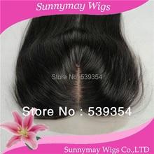 Sunnymay Stock Fast Shipping Cheap Middle Parting Closure 100% Brazilian Virgin Human Hair Silk Base Straight Lace Closure 4×4