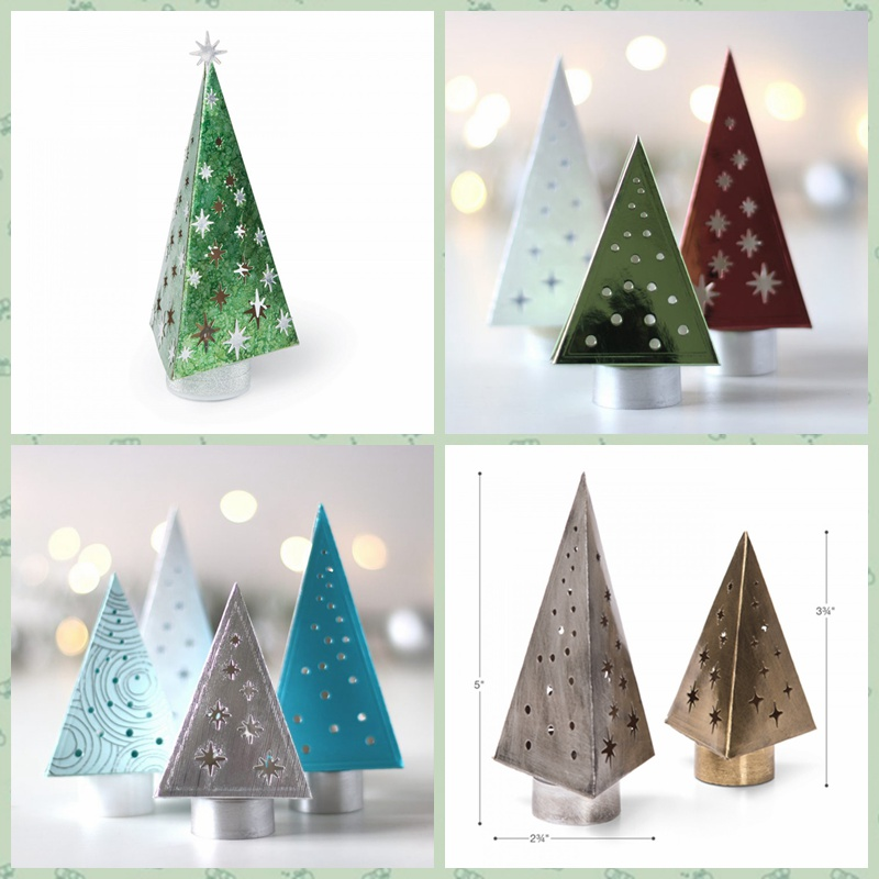 2pcs/Set 3D Xmas Trees Box Metal Cutting Dies Stencils For DIY Scrapbooking Paper Cards Making Handmade Crafts Decoration New