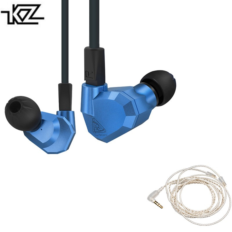 KZ ZS5 2DD+2BA Hybrid Dynamic Balanced Armature Earphone Four Driver In Ear Headset Noise Isolating HiFi Music Earbuds kz ed4 in ear earphone metal stereo music earbuds 3 5mm wired earphone noise isolating quality headset for mobile phone mp3 mp4