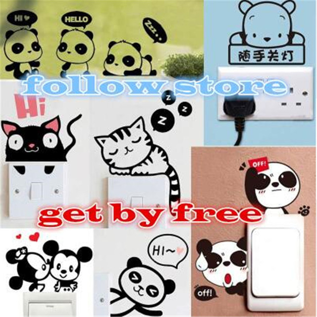 follow store to get free gift- style randomly wall sticker DON'T NEED ORDER !!!