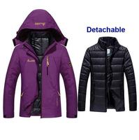 Women Winter Waterproof Fishing Thermal Warm Plus Size Trekking Hiking Camping Skiing Climbing 3 in 1 Outdoor Jackets Waterproof