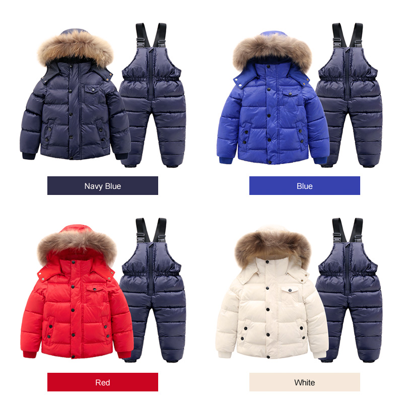 Ircomll Hight Quality Russia Winter Child Clothing Set Thick Cotton Down Waterproof Windproof Children Clothes Snow Wear Ski Su