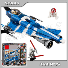 369pcs Space Wars Anakins Custom Jedi Starfighter Space Fighter 10375 Model Building Blocks Children Toys Compatible with Lego