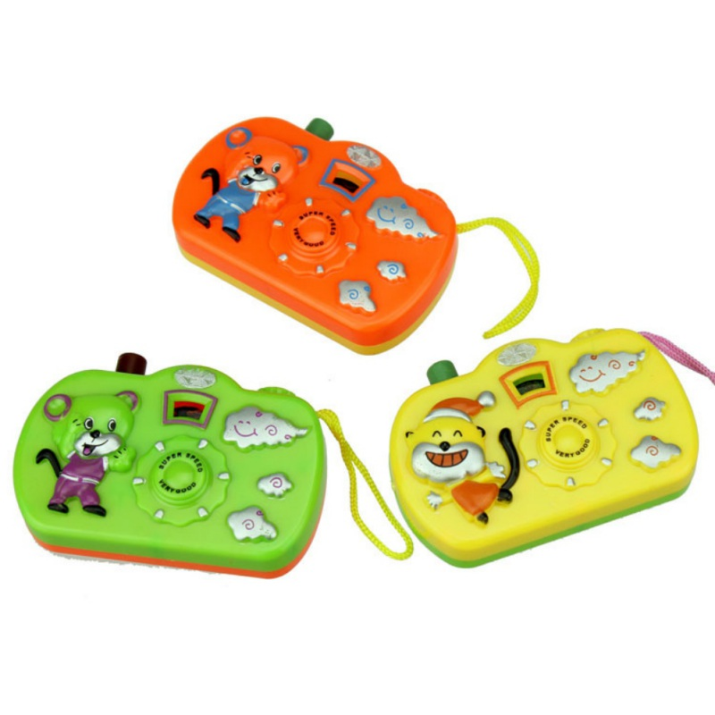 3 PCS Baby Play Toys Projection Camera Toys Multi Animal Model Light Projection Education Learning Toys Children Random Color