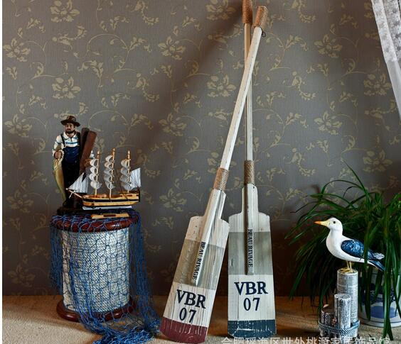 2Pcs Lot mediterranean style OARS woodenhome decoration crafts 80cm hot sale wood crafts R58330