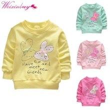 Милая верхняя одежда для маленьких девочек; пальто с милым кроликом на пуговицах; теплая одежда для детей 0-36 месяцев