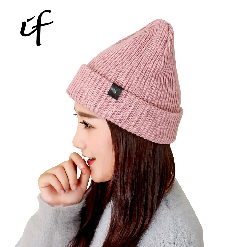 Women's Knitted Hats For Winter Autumn Hip Hop Hat Beanies Gorros For Women Bonnet Bone Casual Caps Thick Female Skullies Hats