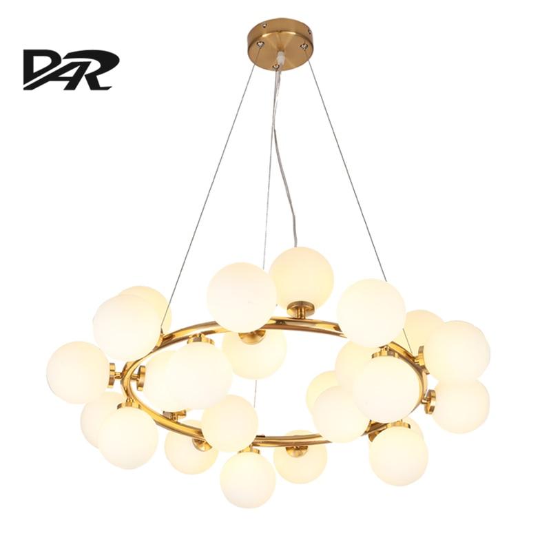 Északi függő lámpa Art Deco G4 üveg lámpaernyő Lámpa LED - Beltéri világítás