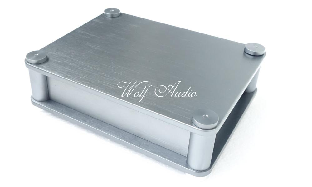 BZ2207B New Listing Rounded Chassis All-aluminum Amplifier Case Preamp Box PSU Enclosure new listing wa26 full aluminum enclosure amp case preamp box psu chassis