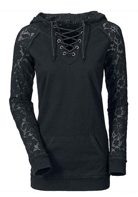 Женская толстовка Повседневное Мода капот с удобные стильный Замечательный джемпер с v-образным вырезом пуловер S/M/L /XL