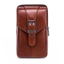 Hot Sale High Quality Men Genuine Leather Handbag Male Zipper Small Vintage Messenger Bag Man Mini Cross-body Shoulder Bag 2019