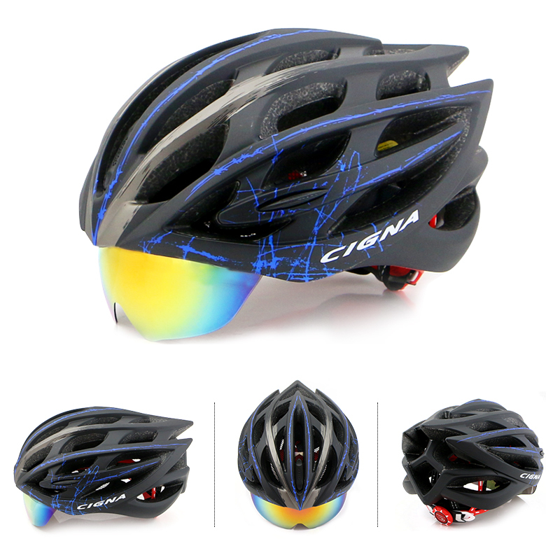 Road Cycling Helmet Bike Mountain Bike Helmet Breathable 32 Air Vents Goggles 3 Lens MTB Bicycle helmets lens Equipment helmet women s cycling shorts cycling mountain bike cycling equipment female spring autumn breathable wicking silicone skirt