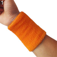10 Colors Wristband Sports Easy To Dry Breathable Wrist Sweatband Sports Protection For Tennis Basketball Squash Badminton GYM(China)