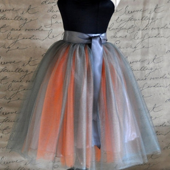 Falda de tul Midi Faldas multicolores para mujer 7 capas plisadas tutú de  tul para mujer Faldas de baile femeninas 70e665f35e43