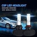 Auxmart S1 9005 HB3 9006 HB4 Автомобилей СВЕТОДИОДНЫЕ Фары 50 Вт 8000LM Авто Передняя Лампа CSP Все-В-Одном Автомобильные Фары 6500 К Автомобиля освещение