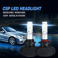 Auxmart S1 9005 HB3 HB4 9006 Del Coche LED de Faros 50 W 8000LM Frente Auto Bombilla CSP Todo-en-uno Automóvil Faro 6500 K Coche iluminación