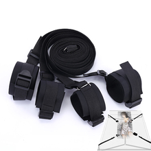 Nylon Sex Handcuffs Bdsm Bondage Erotic Under Bed BDSM Restraint Strap System Toys for Adults Wrists & Ankle Cuffs