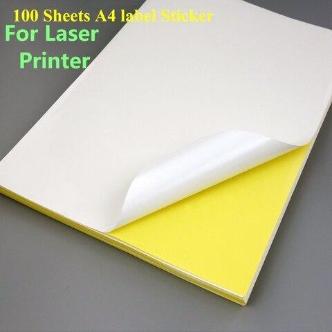 100 folhas a4 mate folha de etiquetas de endereco da impressora 1 etiqueta por