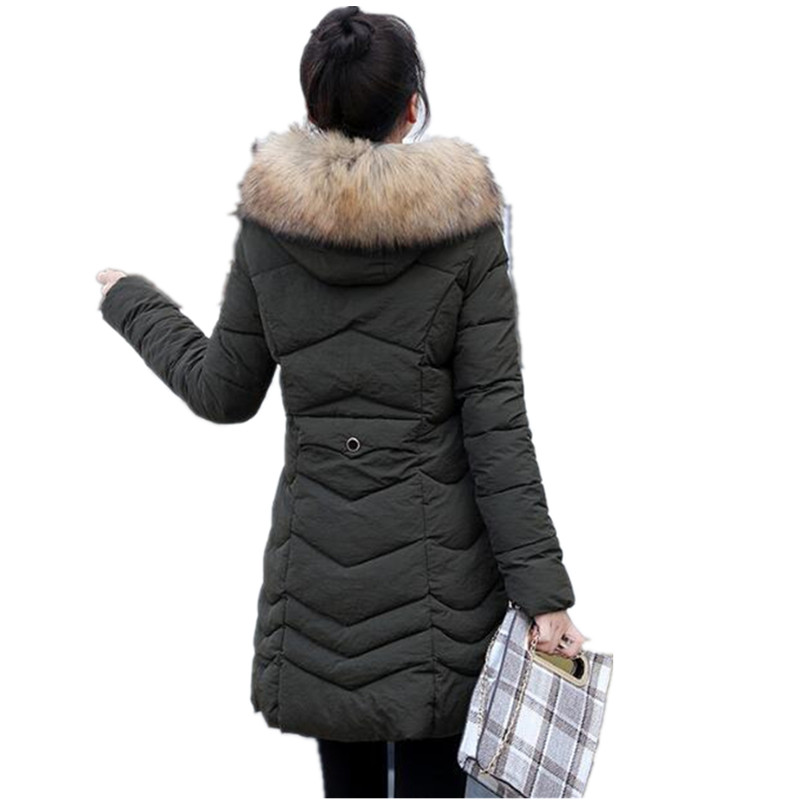 2019 new Cotton   parka   Hooded Faux Fur Winter Jacket Women Long Warm Slim Winter   Parka   Female Coat autumn Abrigos G161