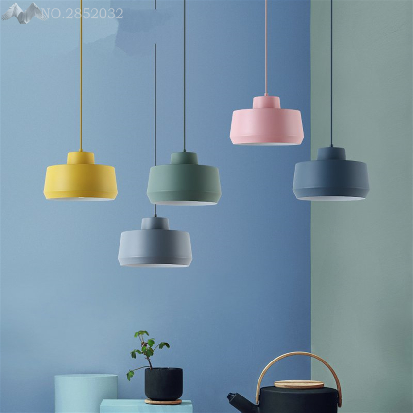 Nordic Modern minimalist creative macarons pendant lamp iron pendant light for living room Restaurant Cafe Bar lighting fixturesNordic Modern minimalist creative macarons pendant lamp iron pendant light for living room Restaurant Cafe Bar lighting fixtures