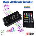 Controlador RGB LED com Música + 20 teclas de controle remoto DC12V-24V led mando interruptor dimmer 3 Canais para RGB led strip 5050 3528