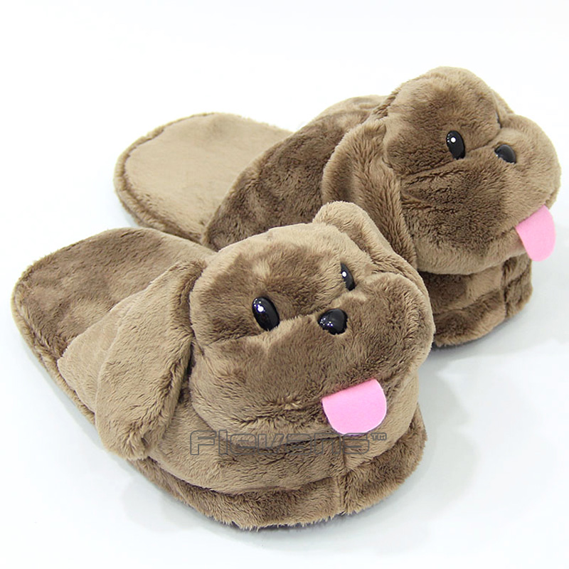 Yuri on Ice Victor Little Puppy Plush Slippers Winter Indoor Shoes Animal Soft Toys Dolls