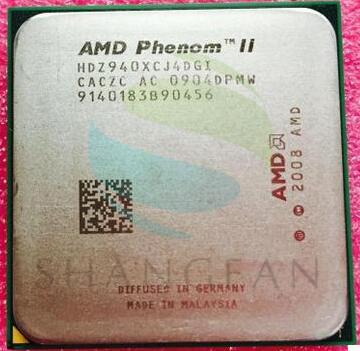 AMD Phenom X4 940 3GHz Quad-Core CPU Processor HDZ940XCJ4DGI 125W Socket AM2+/940PIN desktop cpu 940 socket tester cpu socket analyzer dummy load fake load with led