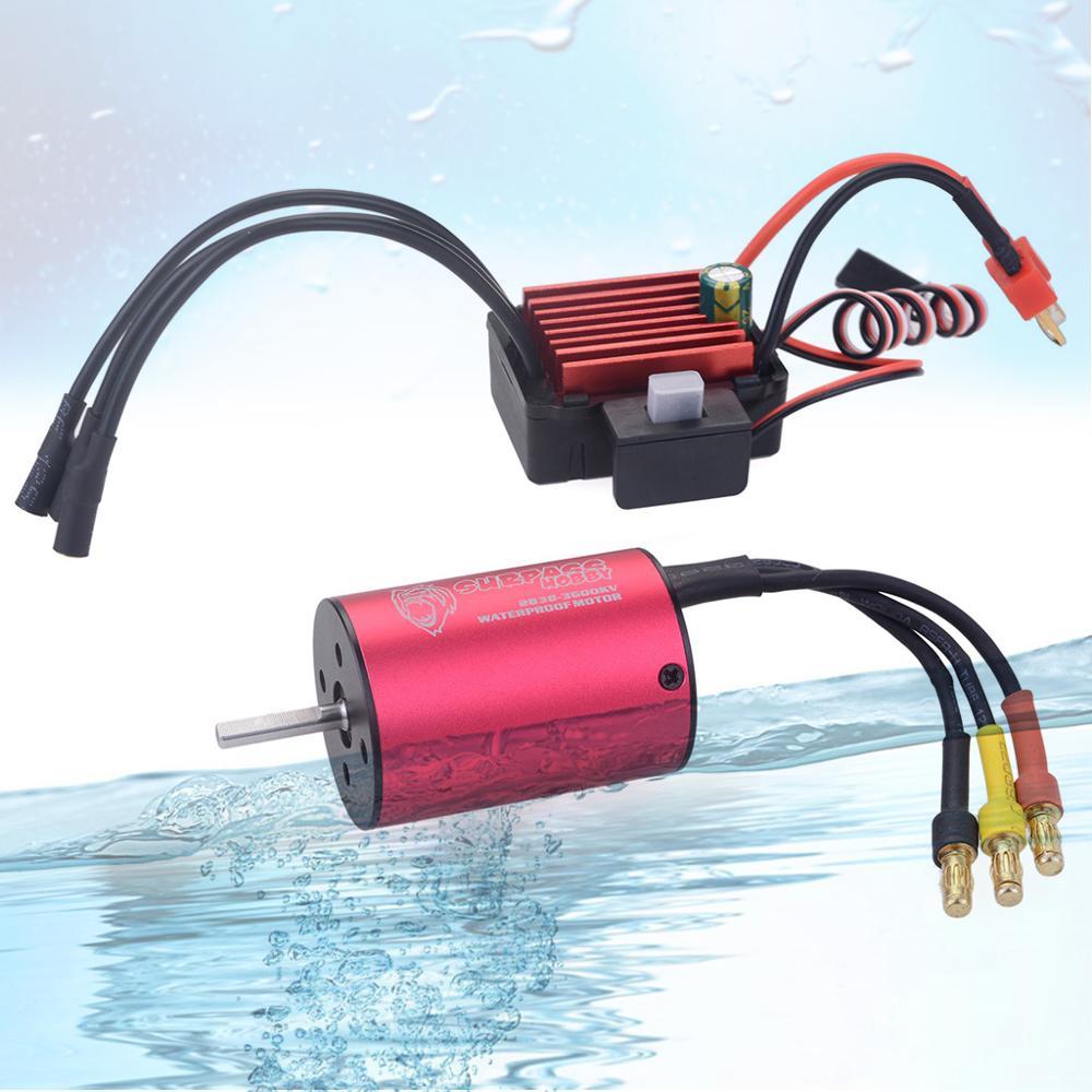 Image 2 - SURPASSHOBBY KK Combo 2838 3200KV 3600KV 3700KV 4400KV Brushless Motor w/ 35A ESC for Traxxas HSP Tamiya Axial 1/16 1/12 RC Car-in Parts & Accessories from Toys & Hobbies