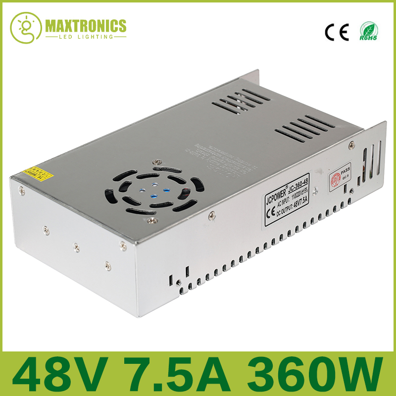 Best price 48V 7 5A 360W Universal Regulated Switching Power Supply for CCTV Led Radio Free