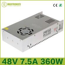 Лучшая цена В 48 В 7.5A Вт 360 Вт Универсальный Регулируемый импульсный источник питания для светодио дный CCTV LED радио Бесплатная доставка