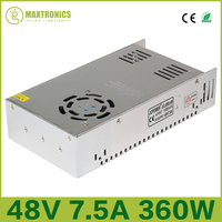 Best price 48V 7.5A 360W Universal Regulated Switching Power Supply for CCTV Led Radio Free shipping