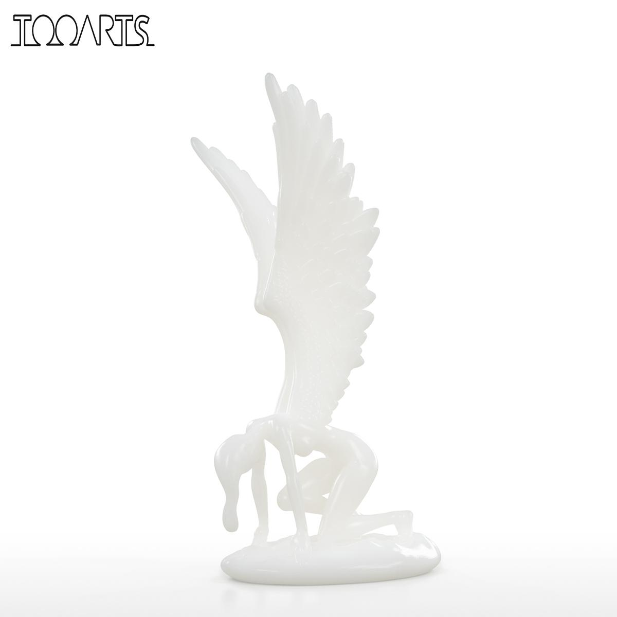 Us 72 78 40 Off Tooarts Angel With Wings Figurine 3d Printed Sculpture For Home Decor West Myth Art Decor Abstract Angel Statue Art Sculpture In
