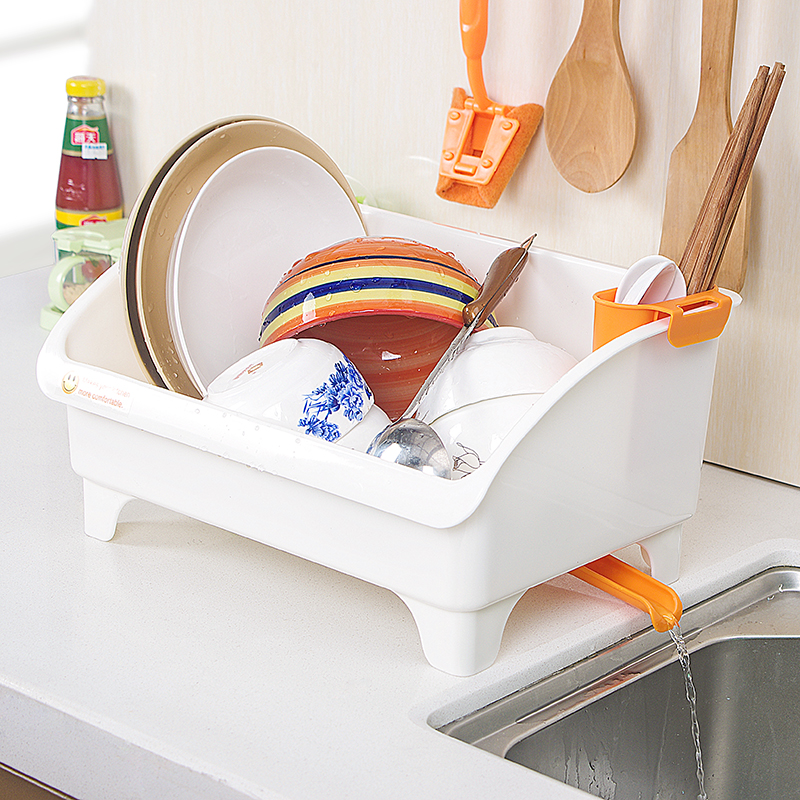 Multi-function rack kitchen dish rack drain rack desktop plastic tableware drain rack Lu 42420